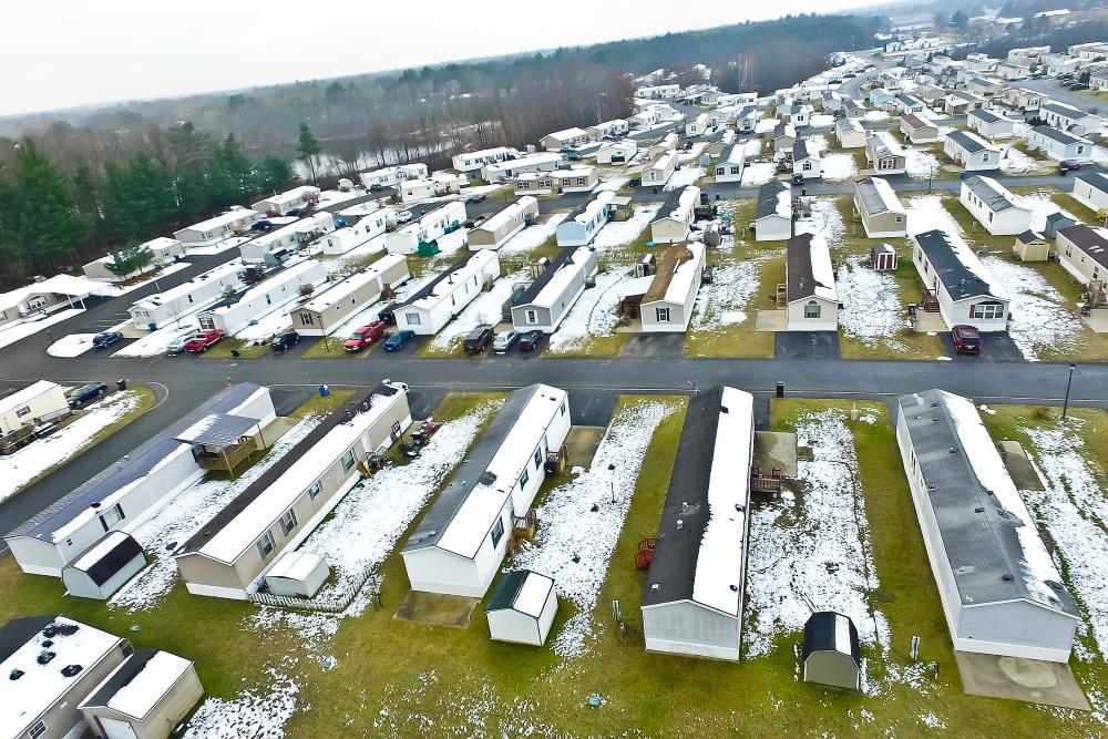 Brookhaven Estates Mobile Home Park Aerial View